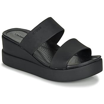 Čevlji  Ženske Sandali & Odprti čevlji Crocs CROCS BROOKLYN MID WEDGE W Črna