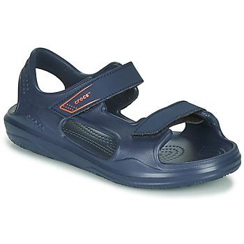 Čevlji  Otroci Športni sandali Crocs SWIFTWATER EXPEDITION SANDAL K Modra