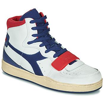 Čevlji  Moški Visoke superge Diadora MI BASKET USED Bela / Modra / Rdeča