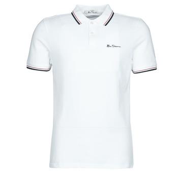 Oblačila Moški Polo majice kratki rokavi Ben Sherman SIGNATURE POLO Bela / Črna