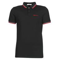 Oblačila Moški Polo majice kratki rokavi Ben Sherman SIGNATURE POLO Črna / Rdeča / Bela