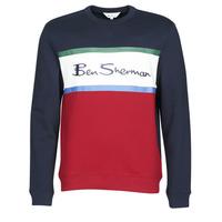 Oblačila Moški Puloverji Ben Sherman COLOUR BLOCKED LOGO SWEAT Rdeča
