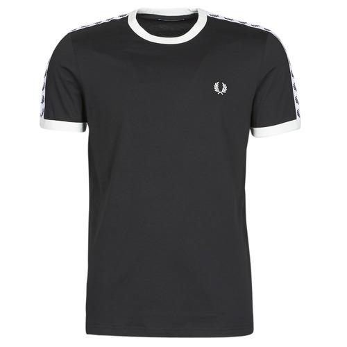 Oblačila Moški Majice s kratkimi rokavi Fred Perry TAPED RINGER T-SHIRT Črna