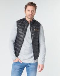 Oblačila Moški Puhovke Emporio Armani EA7 CORE ID 8NPQ02 Črna / Pozlačena