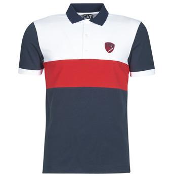 Oblačila Moški Polo majice kratki rokavi Emporio Armani EA7 SEA WORLD ST TROPEZ Bela / Rdeča