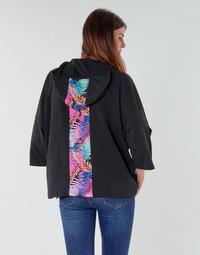 Oblačila Ženske Puloverji Emporio Armani EA7 TRAIN GRAPHIC SERIES W HOODIE CN GRAPHIC INSERT Črna
