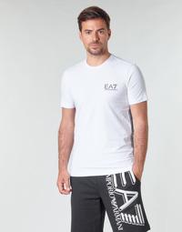 Oblačila Moški Majice s kratkimi rokavi Emporio Armani EA7 TRAIN LOGO SERIES M TAPE TEE ST Bela