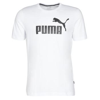 Oblačila Moški Majice s kratkimi rokavi Puma ESSENTIAL TEE Bela
