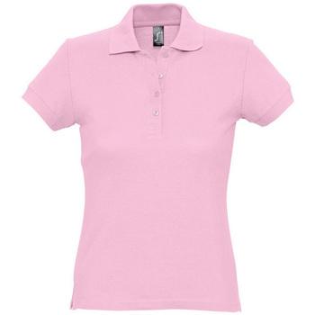 Oblačila Ženske Polo majice kratki rokavi Sols PASSION WOMEN COLORS Rosa