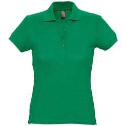 Oblačila Ženske Polo majice kratki rokavi Sols PASSION WOMEN COLORS Verde