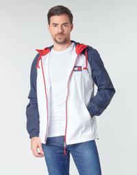 Oblačila Moški Jakne Tommy Jeans TJM COLORBLOCK ZIPTHROUGH JCKT Bela / Modra / Rdeča