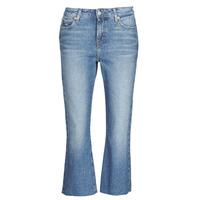 Oblačila Ženske Jeans straight Tommy Jeans KATIE CROP FLARE Modra