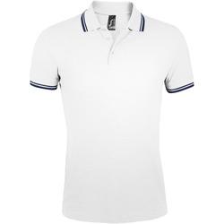 Oblačila Moški Polo majice kratki rokavi Sols PASADENA MODERN MEN Blanco