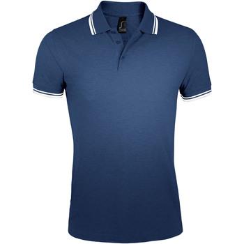 Oblačila Moški Polo majice kratki rokavi Sols PASADENA MODERN MEN Azul