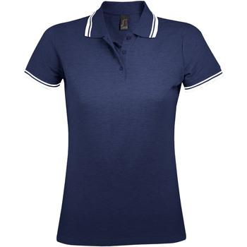 Oblačila Ženske Polo majice kratki rokavi Sols PASADENA MODERN WOMEN Azul