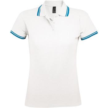 Oblačila Ženske Polo majice kratki rokavi Sols PASADENA MODERN WOMEN Blanco