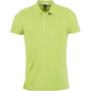 Oblačila Moški Polo majice kratki rokavi Sols PERFORMER MEN SPORT Verde
