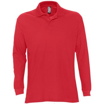 Oblačila Moški Polo majice dolgi rokavi Sols STAR MODERN MEN Rojo