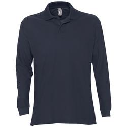 Oblačila Moški Polo majice dolgi rokavi Sols STAR MODERN MEN Azul
