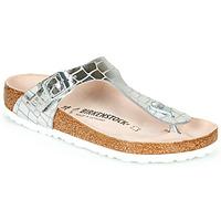 Čevlji  Ženske Japonke Birkenstock GIZEH Silver