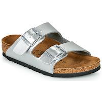 Čevlji  Deklice Natikači Birkenstock ARIZONA Silver