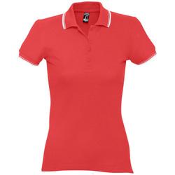 Oblačila Ženske Polo majice kratki rokavi Sols PRACTICE POLO MUJER Rojo