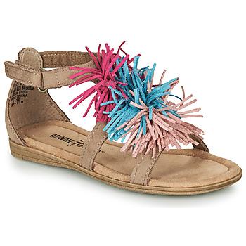 Čevlji  Deklice Sandali & Odprti čevlji Minnetonka ELOISE Taupe
