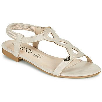 Čevlji  Ženske Sandali & Odprti čevlji Les Petites Bombes FLORA Bež