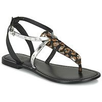 Čevlji  Ženske Sandali & Odprti čevlji Les Petites Bombes ALIX Črna / Srebrna
