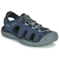 Čevlji  Moški Športni sandali Keen SOLR SANDAL Modra / Siva