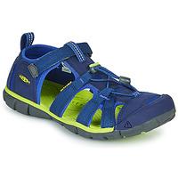 Čevlji  Otroci Športni sandali Keen SEACAMP II CNX Modra / Zelena