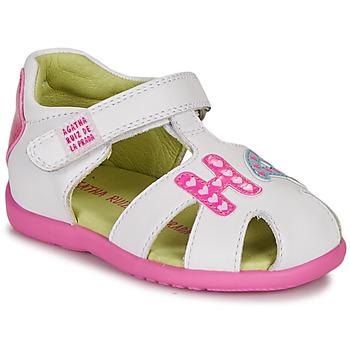 Čevlji  Deklice Sandali & Odprti čevlji Agatha Ruiz de la Prada HAPPY Bela / Rožnata
