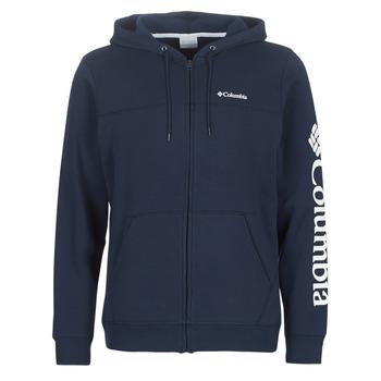 Oblačila Moški Puloverji Columbia COLUMBIA LOGO FLEECE FULL ZIP Modra