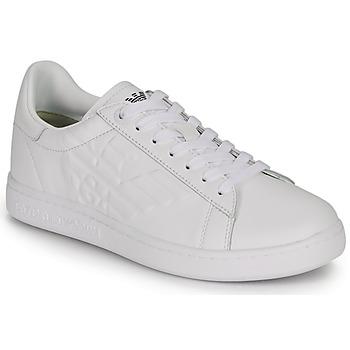 Čevlji  Moški Nizke superge Emporio Armani EA7 CLASSIC NEW CC Bela