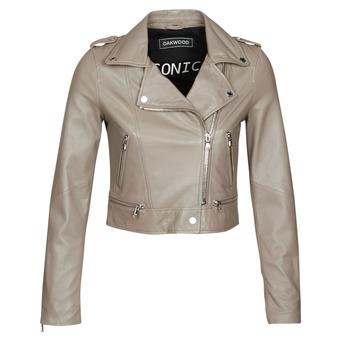 Oblačila Ženske Usnjene jakne & Sintetične jakne Oakwood YOKO Mastic / (TAUPE)