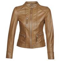Oblačila Ženske Usnjene jakne & Sintetične jakne Oakwood EACH Cognac