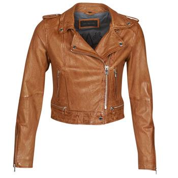 Oblačila Ženske Usnjene jakne & Sintetične jakne Oakwood KYOTO Cognac