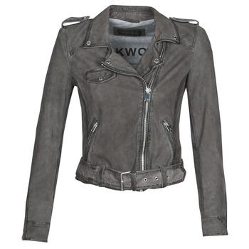 Oblačila Ženske Usnjene jakne & Sintetične jakne Oakwood PLEASE Siva