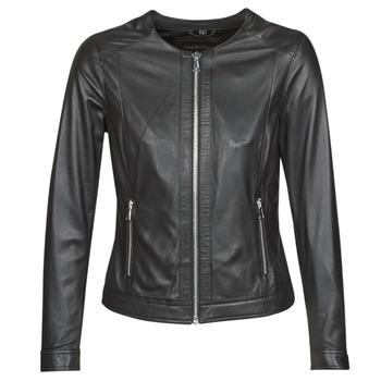 Oblačila Ženske Usnjene jakne & Sintetične jakne Oakwood PLEASE Črna