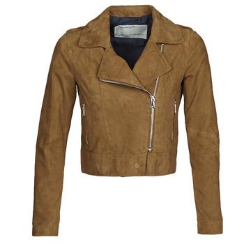 Oblačila Ženske Usnjene jakne & Sintetične jakne Oakwood PHOEBE Cognac / Suede