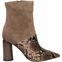 Čevlji  Ženske Gležnjarji Jeffrey Campbell LUSTFUL 2 SNAKE brown-taupe-marrone