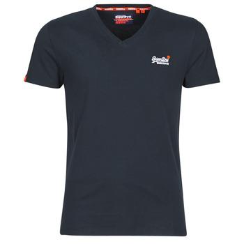 Oblačila Moški Majice s kratkimi rokavi Superdry ORANGE LABEL VNTGE EMB VEE TEE Modra
