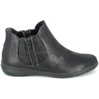 Čevlji  Ženske Polškornji Boissy Boots Noir texturé Črna