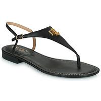 Čevlji  Ženske Sandali & Odprti čevlji Lauren Ralph Lauren ELLINGTON SANDALS CASUAL Črna