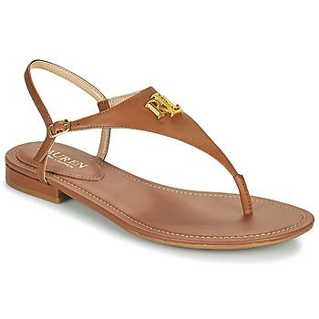 Čevlji  Ženske Sandali & Odprti čevlji Lauren Ralph Lauren ELLINGTON SANDALS CASUAL Cognac