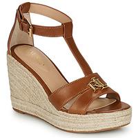 Čevlji  Ženske Sandali & Odprti čevlji Lauren Ralph Lauren HALE ESPADRILLES CASUAL Cognac