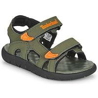 Čevlji  Otroci Sandali & Odprti čevlji Timberland PERKINS ROW 2-STRAP Zelena / Oranžna