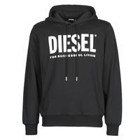 Oblačila Moški Puloverji Diesel GIR-HOOD-DIVISION Črna
