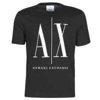Oblačila Moški Majice s kratkimi rokavi Armani Exchange HULO Črna