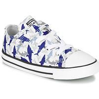 Čevlji  Dečki Nizke superge Converse CHUCK TAYLOR ALL STAR 1V SHARK BITE - OX Modrá / White